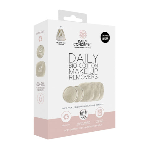 Image of Makeup Remover & Brush Cleaner Daily Concepts Bio-Cotton Makeup Removers