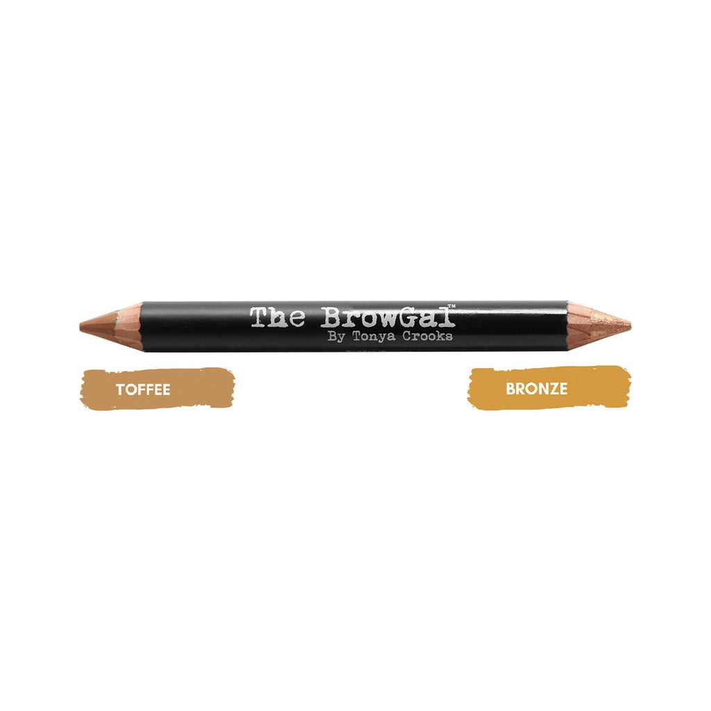 Makeup, Skin & Personal Care The BrowGal Highlighter & Concealer Duo Pencil, Bronze/Toffee