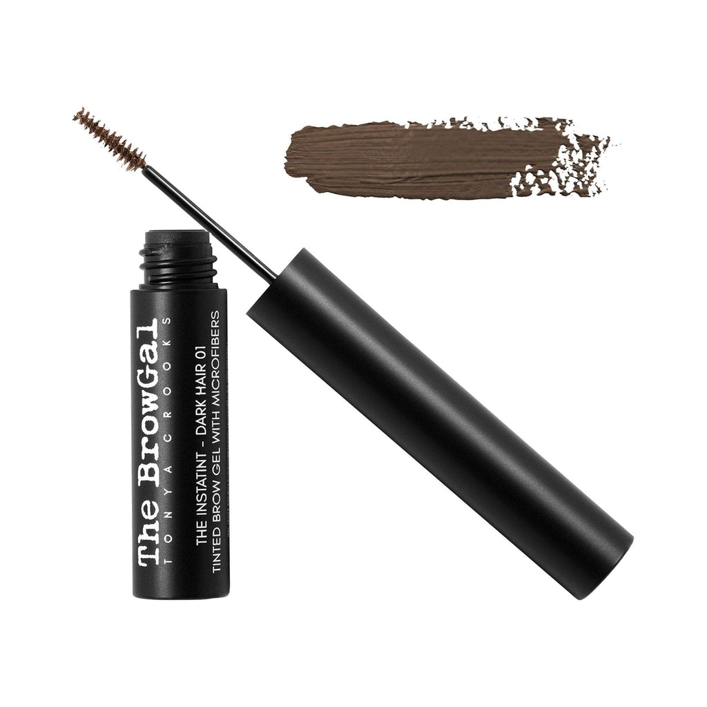 Makeup, Skin & Personal Care The BrowGal Instatint Tinted Eyebrow Gel with Micro Fibers, Brown Hair