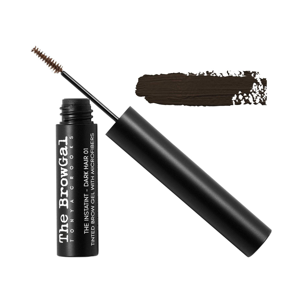 Makeup, Skin & Personal Care The BrowGal Instatint Tinted Eyebrow Gel with Micro Fibers, Dark Hair