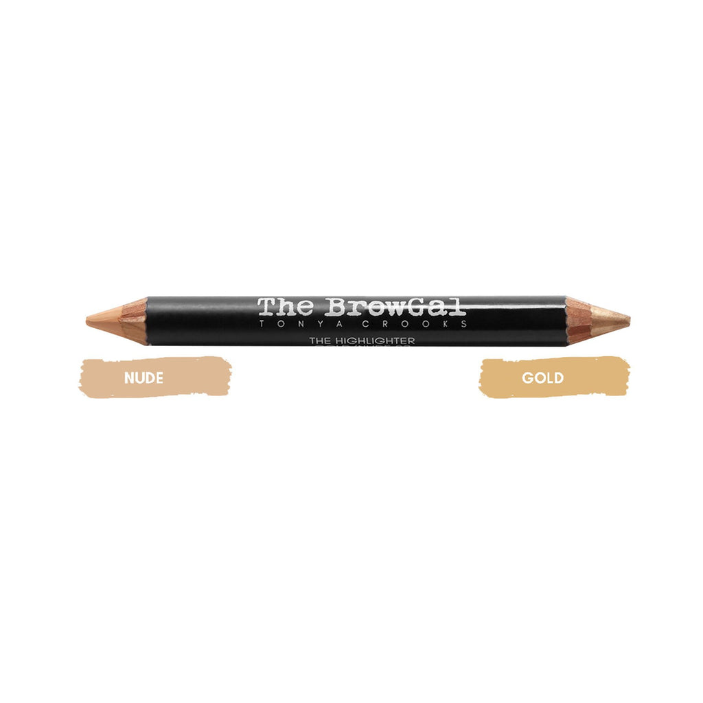 Makeup, Skin & Personal Care The BrowGal Highlighter & Concealer Duo Pencil, Gold/Nude