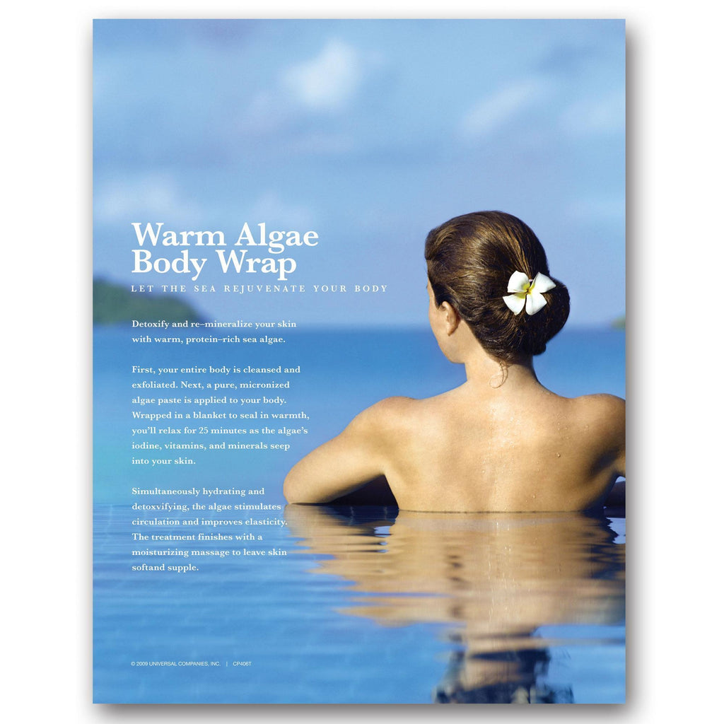 Marketing Collateral & Holders Counter Card / Warm Algae Wrap Success Kit