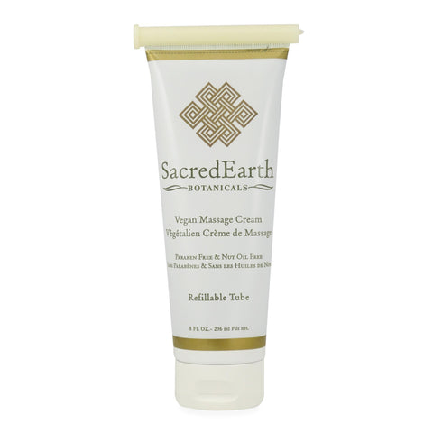 Massage Creams & Butters 8 oz Sacred Earth Botanicals Vegan Massage Cream