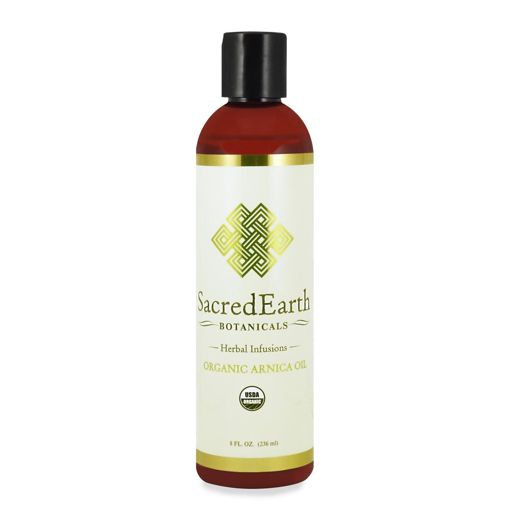 Massage Oils Sacred Earth Botanicals Organic Herbal Infusions /Arnica/8oz