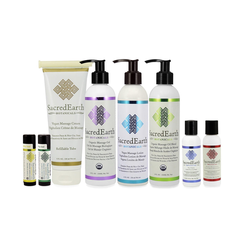 Massage Starter & Trial Kits Sacred Earth Botanicals Trial Kit