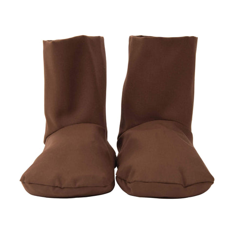 Image of Mitts, Booties & Liners Eco-fin Herbal Booties / Chocolate