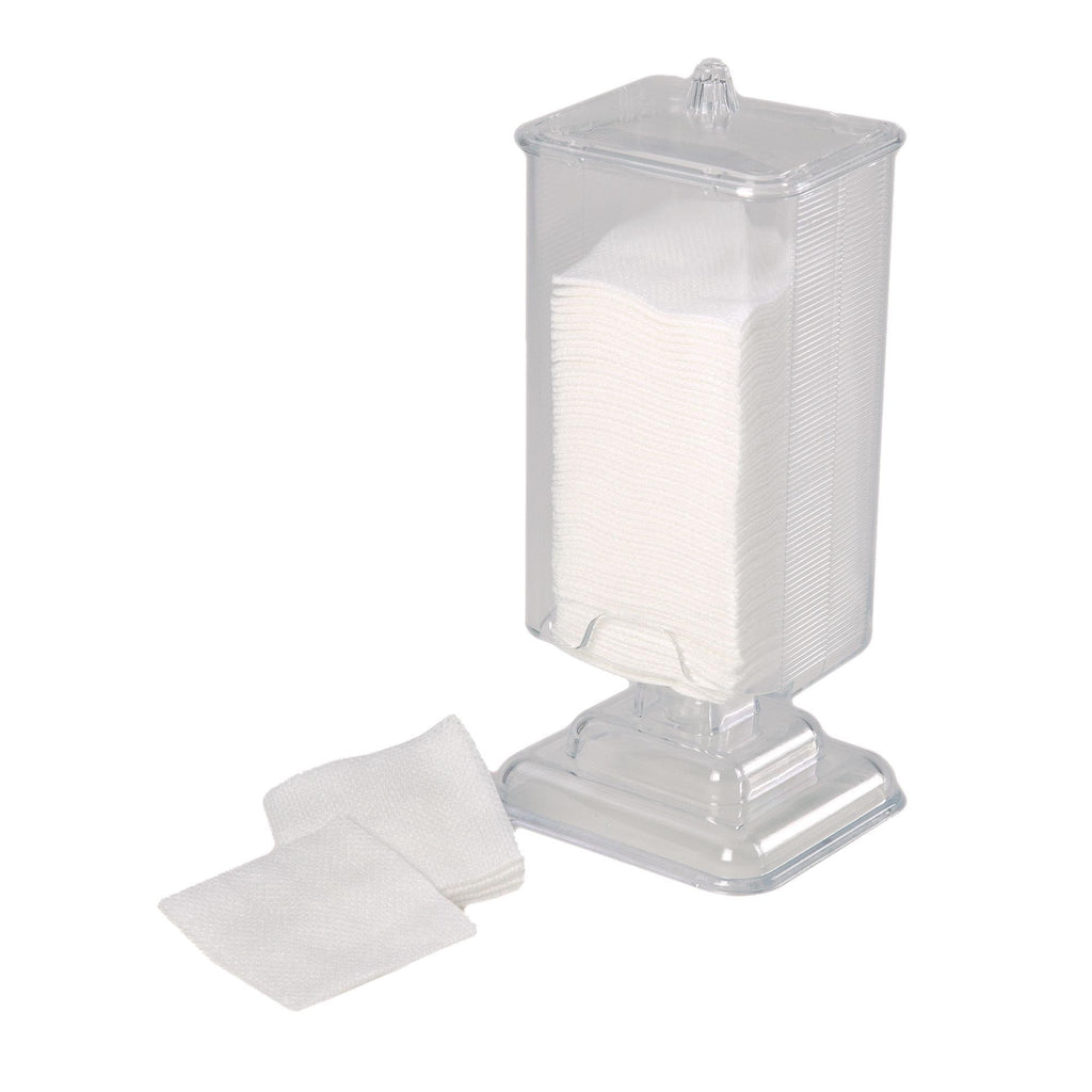 "Multi-Use Dispenser & Holders Cotton Pad Dispenser w/Cover / 2""x2"""