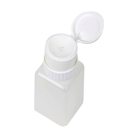 Image of Square Liquid Pump Dispenser, Twist Lock Top, Flip Top, 8 oz