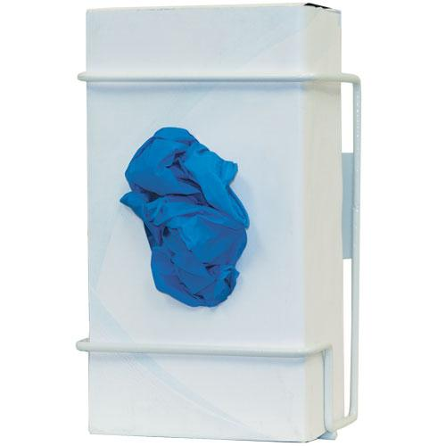 Single Glove Box Dispenser, White Wire