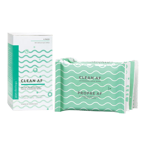 Image of Pre-Pack Displays Patchology Clean AF On-the-Go Refreshing Facial Cleansing Wipes Display