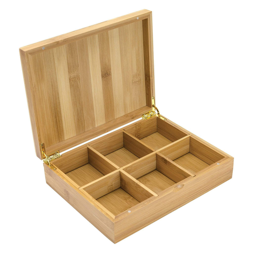 Pre-Pack Displays White Bamboo 6-slot Presentation Chest