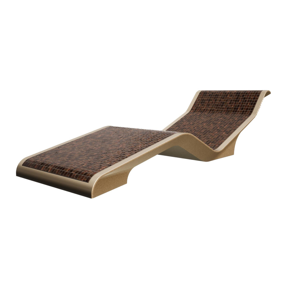 Diva Basico Infrared Heated Lounger, Ceramico