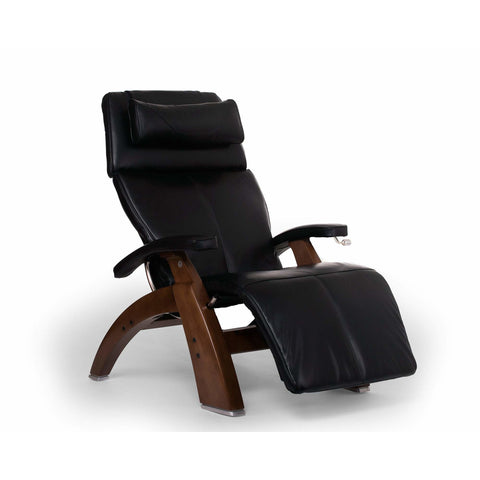 Image of Relaxation & Reception Ivory / Dark Walnut Human Touch Perfect Chair Deluxe Zero Gravity Chair
