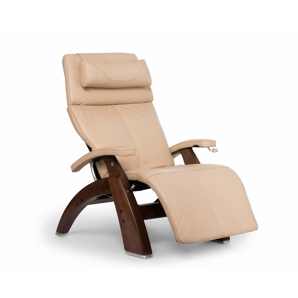 Relaxation & Reception Ivory / Dark Walnut Human Touch Perfect Chair Deluxe Zero Gravity Chair