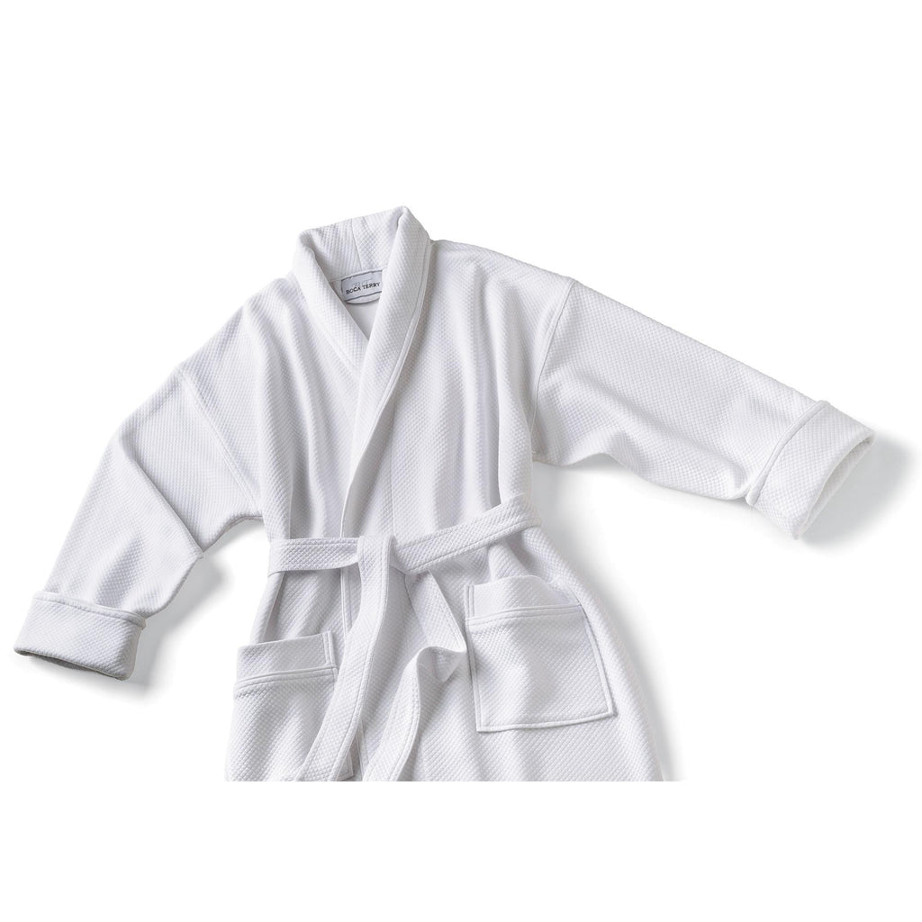 Robes & Wrapes Boca Terry Robe / Knit Waffle Shawl Collar