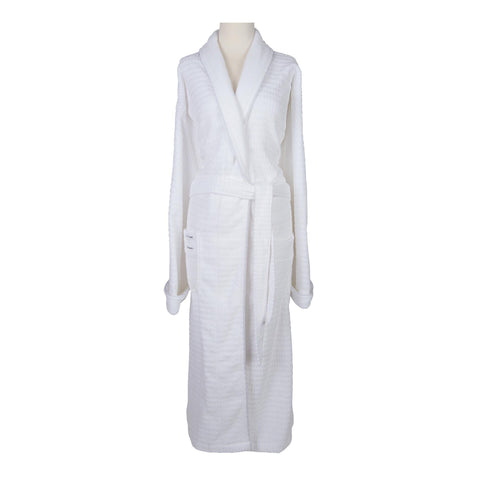Image of Robes & Wrapes One Size Fits All Sposh Regal Robe White with Silver Braided Trim