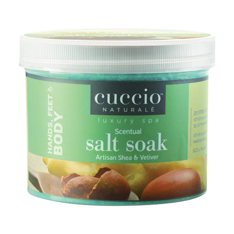 Image of Soaks & Cleansers Sea Kelp & Tea Tree / 29oz Cuccio Pedicure Scentual Salt Soak