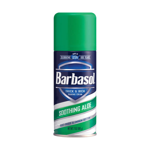 Image of Spa Locker Room Supplies Barbasol Shave Cream Aloe 7 oz