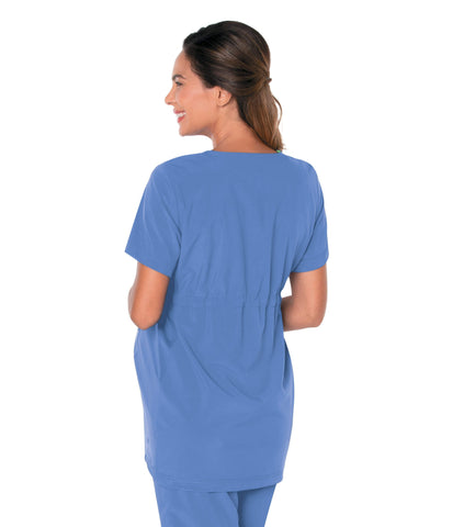 Image of Women's Maternity Crossover V-Neck Tunic Top by Landau