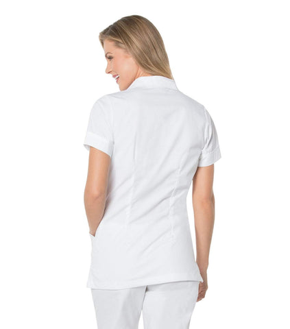 Image of Women's Student Tunic Top in White w/Trim by Landau