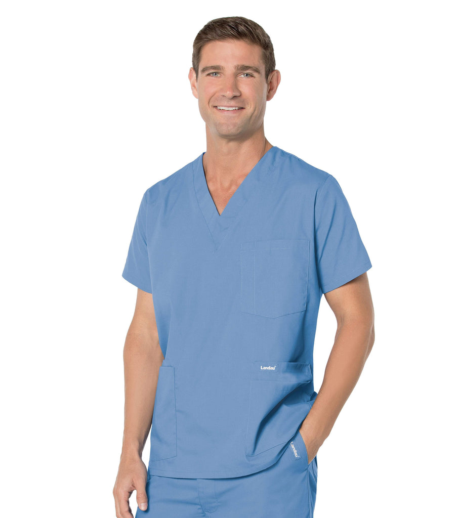 Men's 5 Pocket Scrub Top, TALL, by Landau