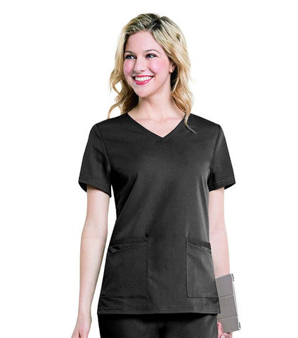 "Image of Women's ""Chelsea"" V-Neck Tunic Top, XSmall to XLarge, by Urbane"