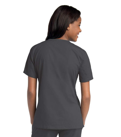 Image of Women's Double Pocket Crossover Top, XXL to 3XL, by Urbane