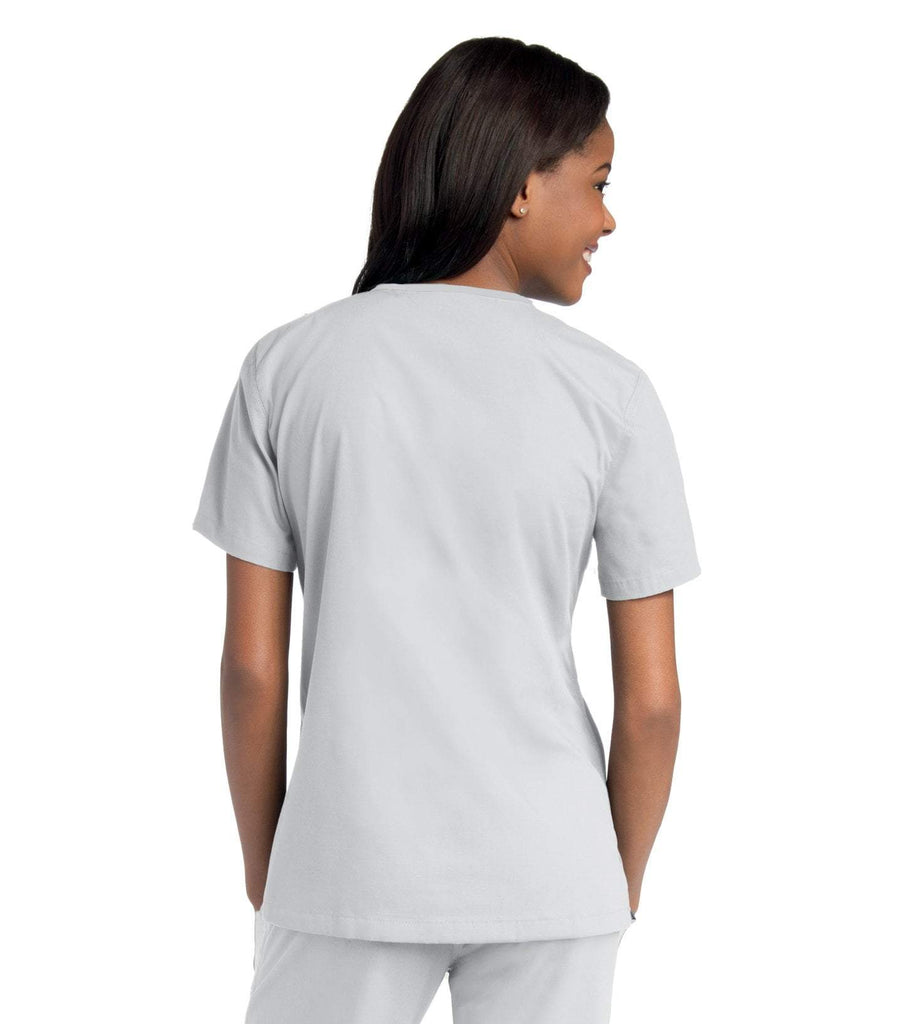 Women's Double Pocket Crossover Top, XXL to 3XL, by Urbane