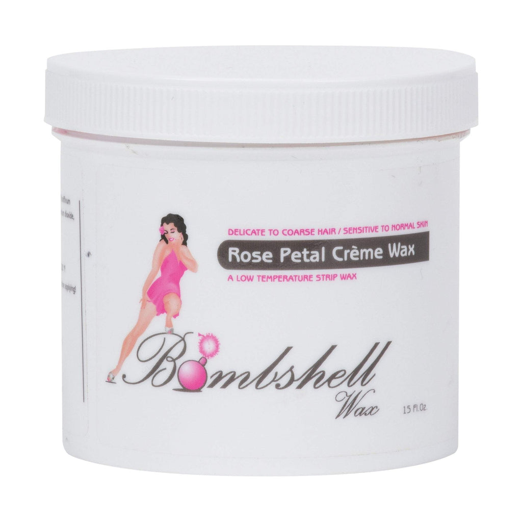BOMBSHELL Strip Wax Rose Petal Crème, 15 oz