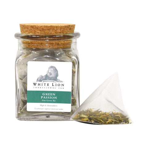 Image of Tea & Snacks 12 ct. White Lion Tea, Green Passion Canister
