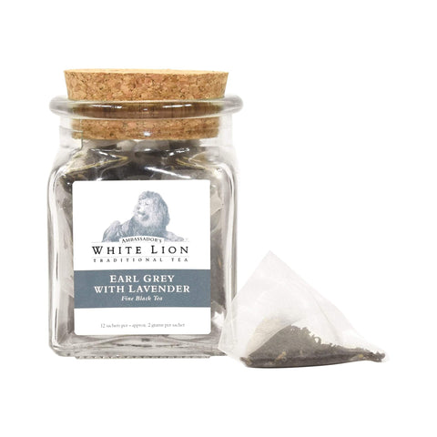 Image of Tea & Snacks 12 ct. White Lion Tea, Earl Grey Lavender Canister