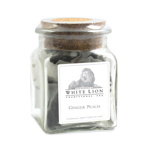 Image of Tea & Snacks 12 ct. White Lion Tea Ginger Peach