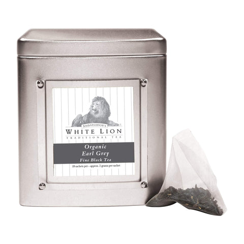 Image of Tea & Snacks White Lion Tea, Organic Earl Grey Canister