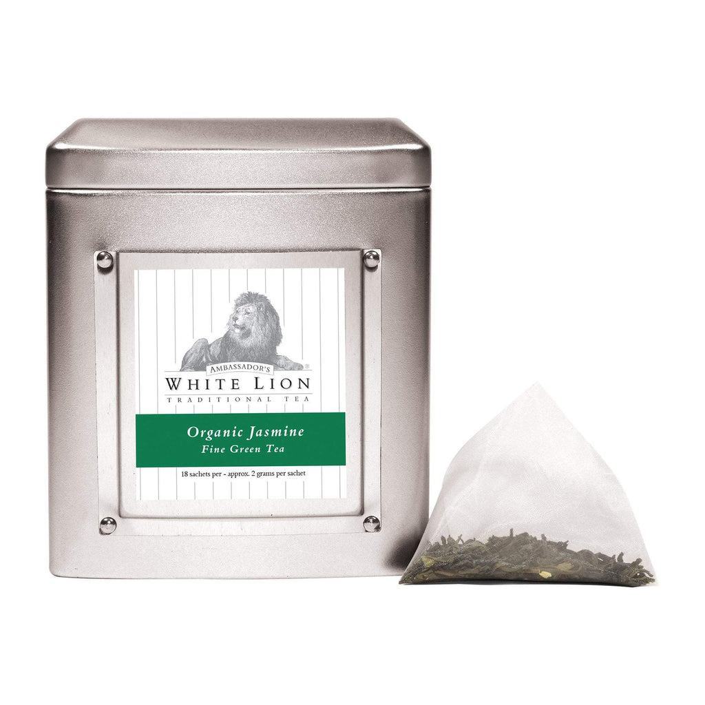 Tea & Snacks 18 ct. White Lion Tea, Organic Jasmine Canister