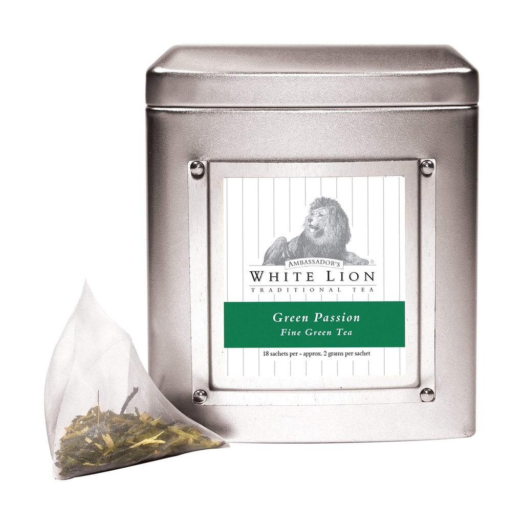 Tea & Snacks 18 ct. White Lion Tea, Green Passion Canister