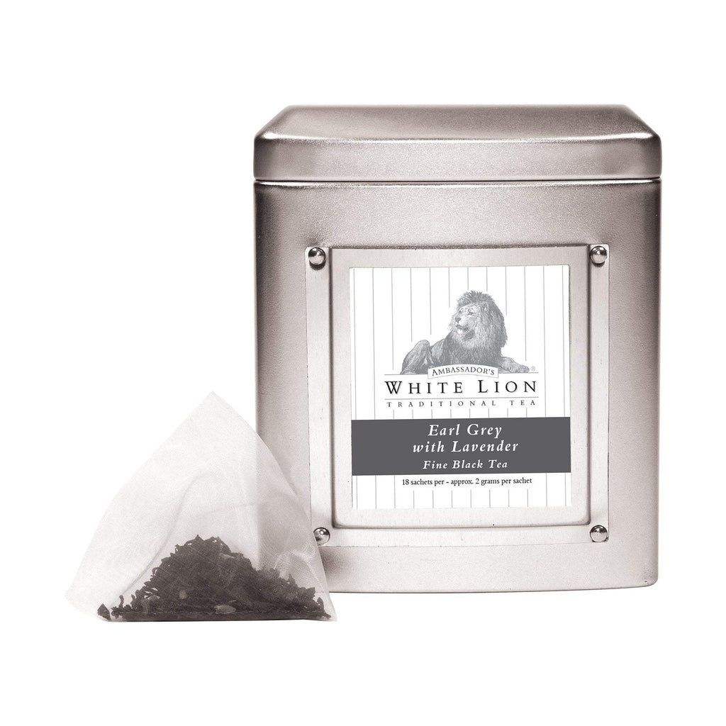 Tea & Snacks 18 ct. White Lion Tea, Earl Grey Lavender Canister