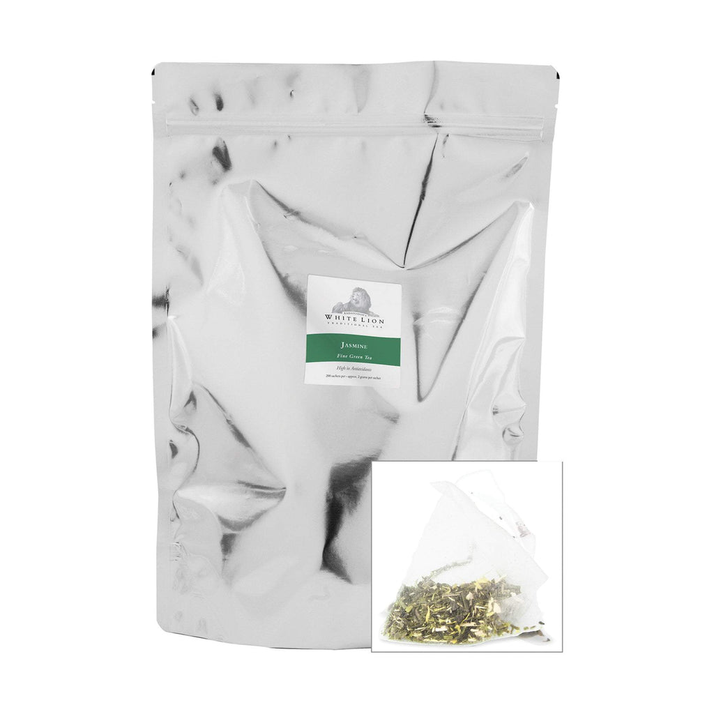 Tea & Snacks 200 ct. White Lion Tea, Organic Jasmine Canister