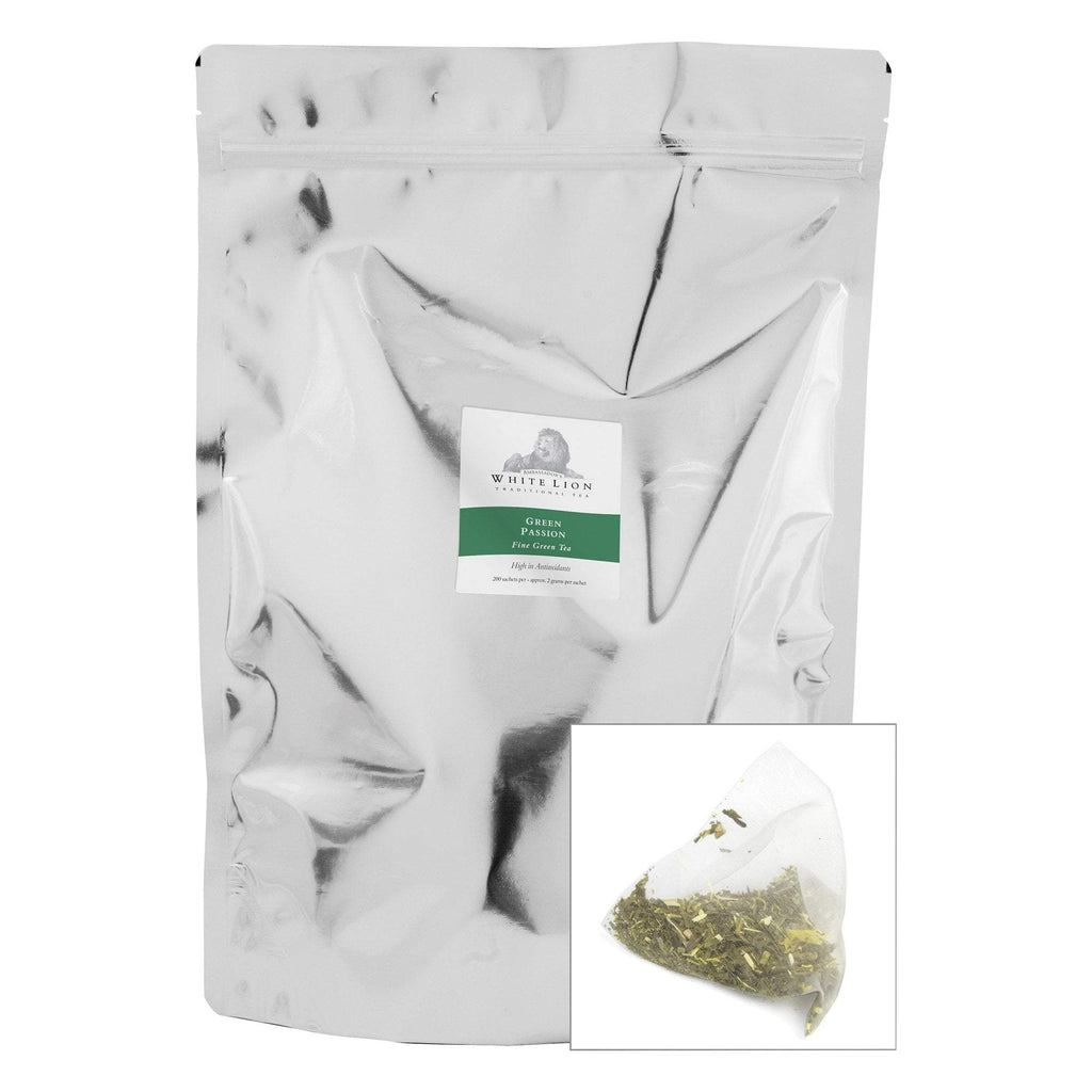 Tea & Snacks 200 ct. White Lion Tea, Green Passion Canister