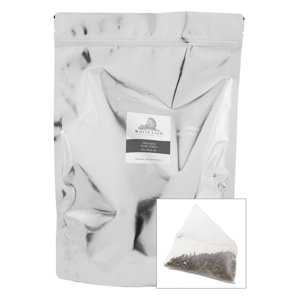 Tea & Snacks 200 ct. White Lion Tea, Organic Earl Grey Canister