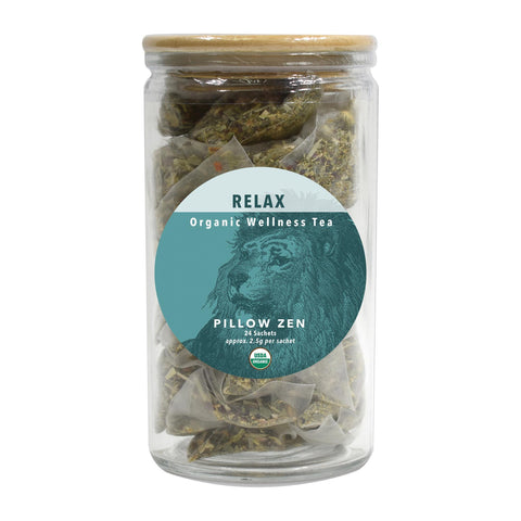 Image of Tea & Snacks 24 ct. White Lion Relax (Pillow Zen) Tea