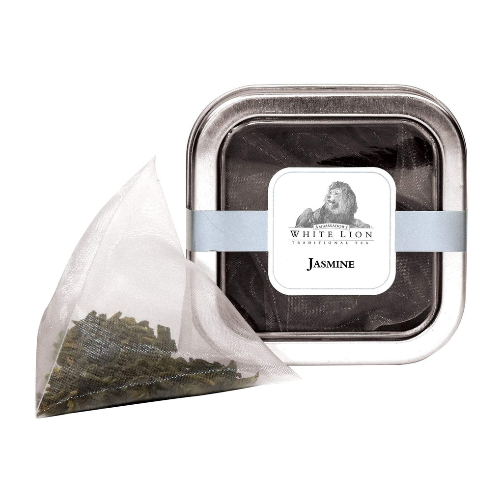 Tea & Snacks 5 ct. White Lion Tea, Organic Jasmine Canister