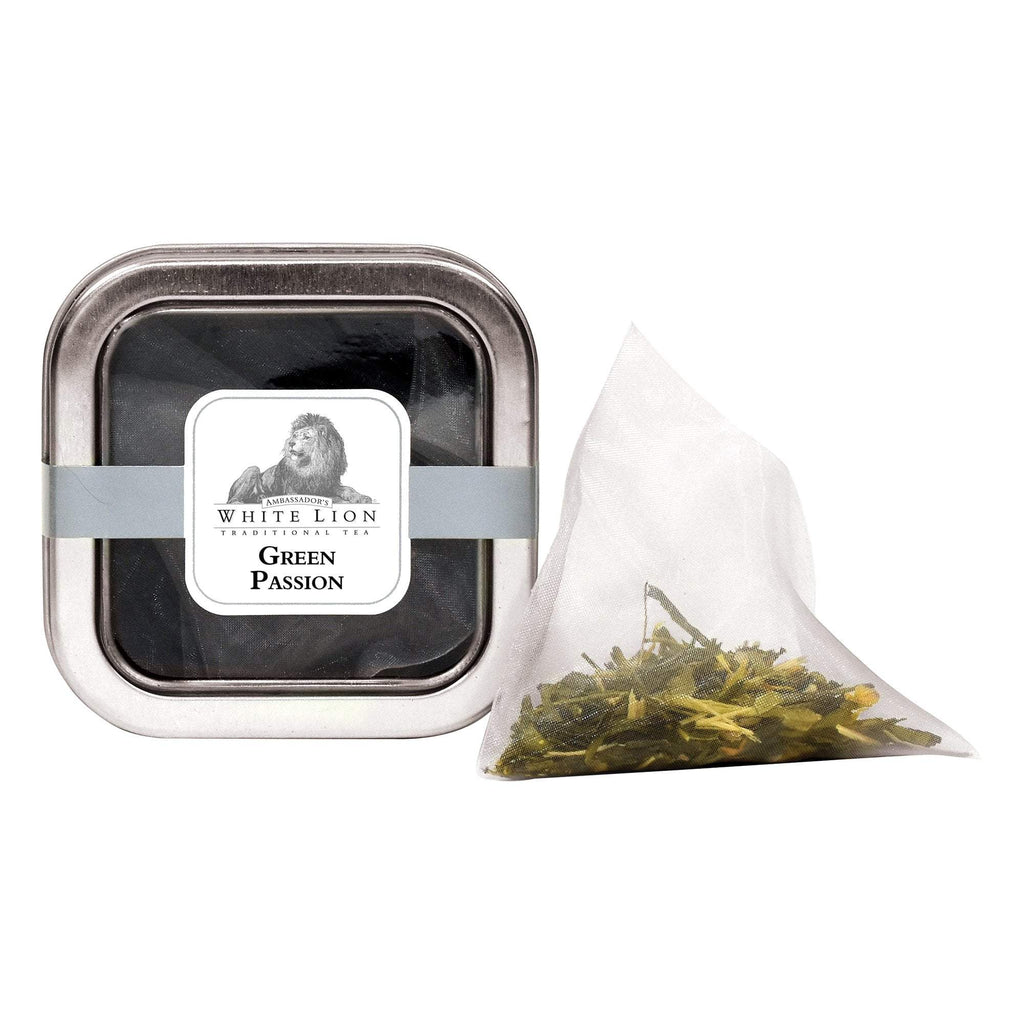 Tea & Snacks 5 ct. White Lion Tea, Green Passion Canister