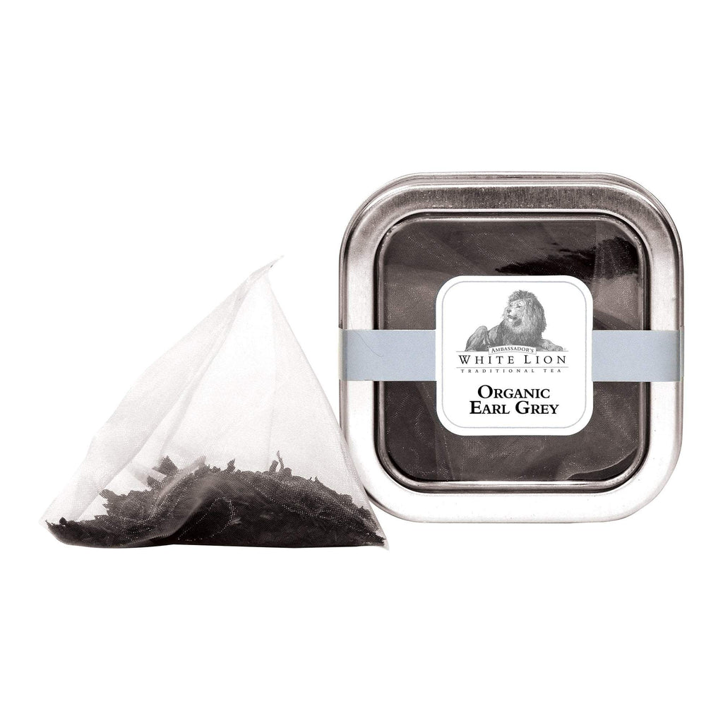 Tea & Snacks 5 ct. White Lion Tea, Organic Earl Grey Canister