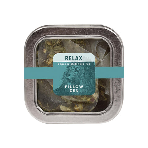Image of Tea & Snacks 5 ct. White Lion Relax (Pillow Zen) Tea
