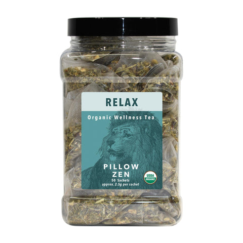 Image of Tea & Snacks 50 ct. White Lion Relax (Pillow Zen) Tea