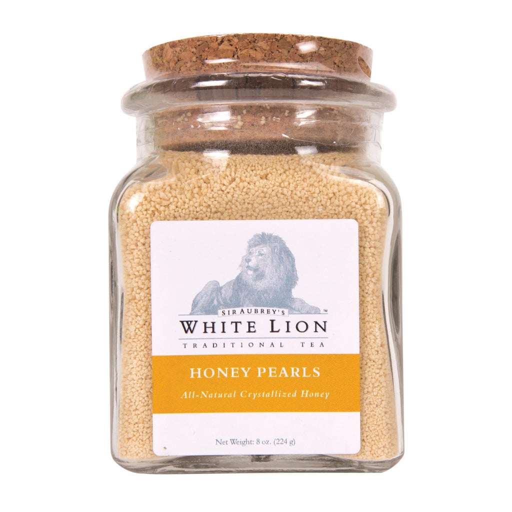 Tea & Snacks Honey Pearls Jar 8 oz White Lion Honey Pearls