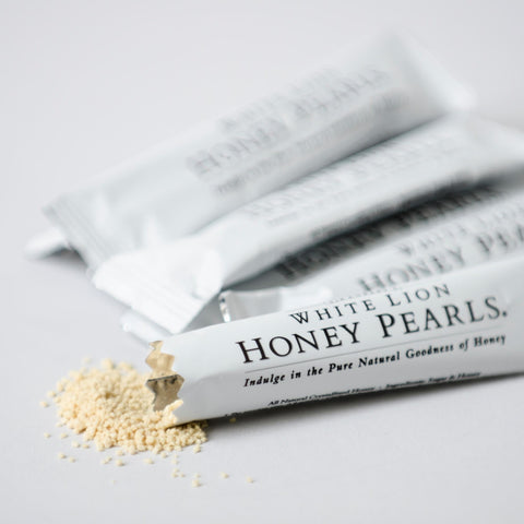 Image of Tea & Snacks Honey Pearls Sticks 500 Count White Lion Honey Pearls
