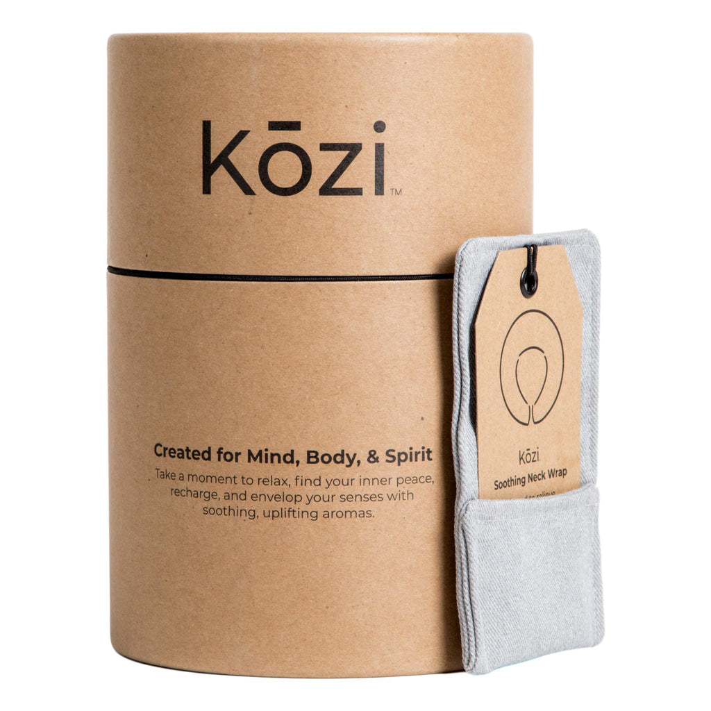 Kozi Soothing Neck Wrap, Grey Heather