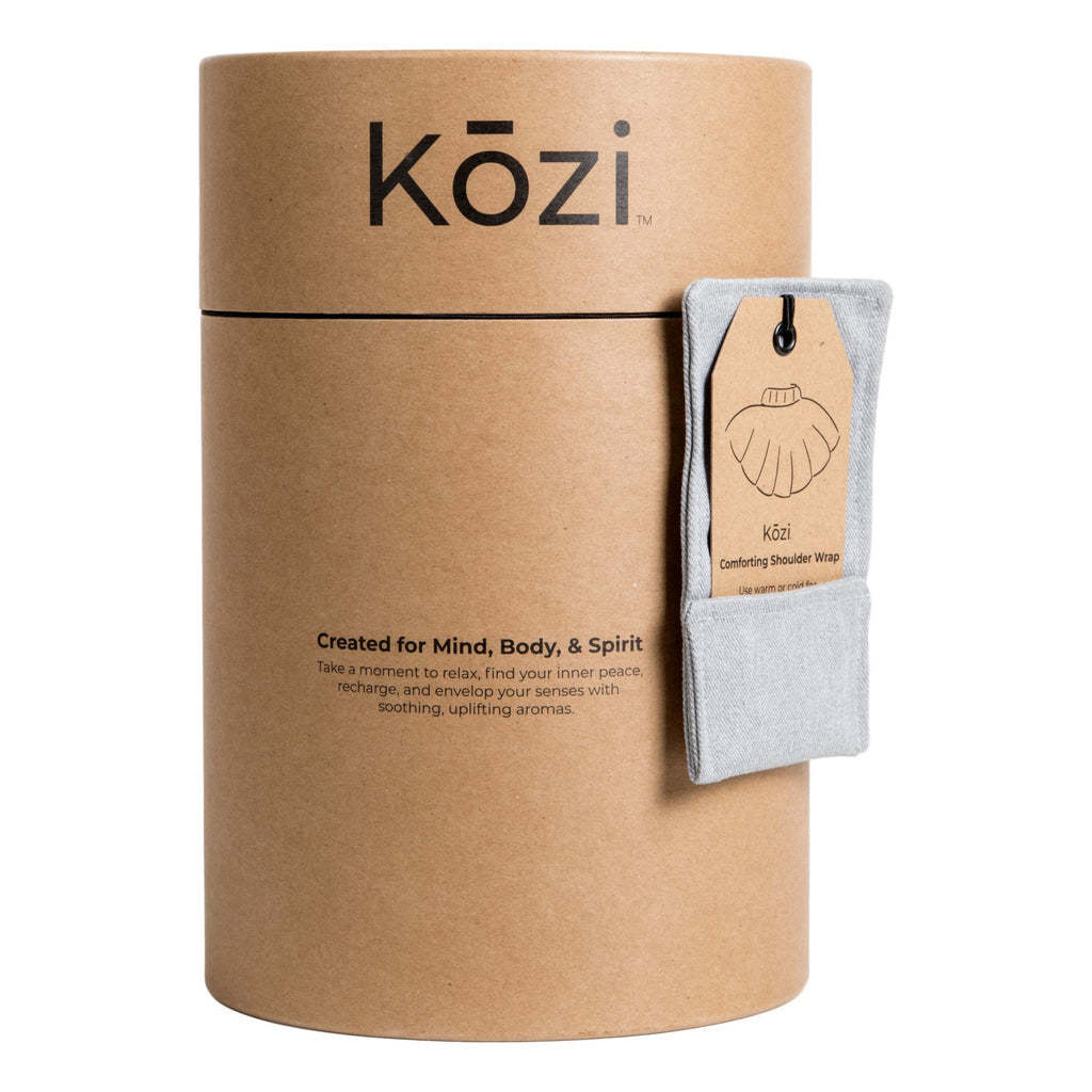Kozi Comforting Shoulder Wrap, Grey Heather