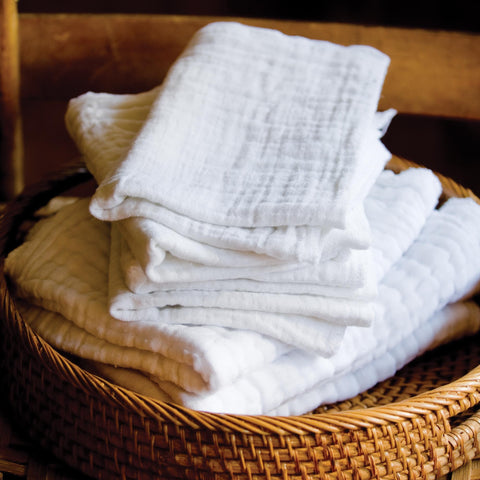 Image of Towels & Disposable Cloths Soft Facial Cloths / 8pc